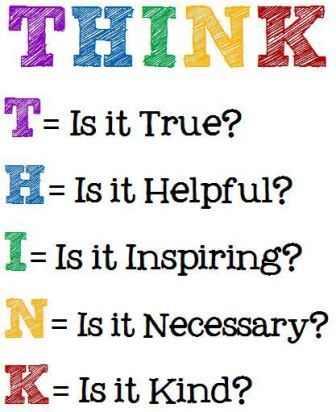 Think - True, Helpful, Inspiring, Necessary, Kind